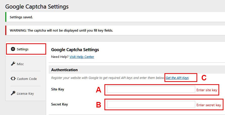 How to setup the Word Press Google Captcha (reCAPTCHA) plugin